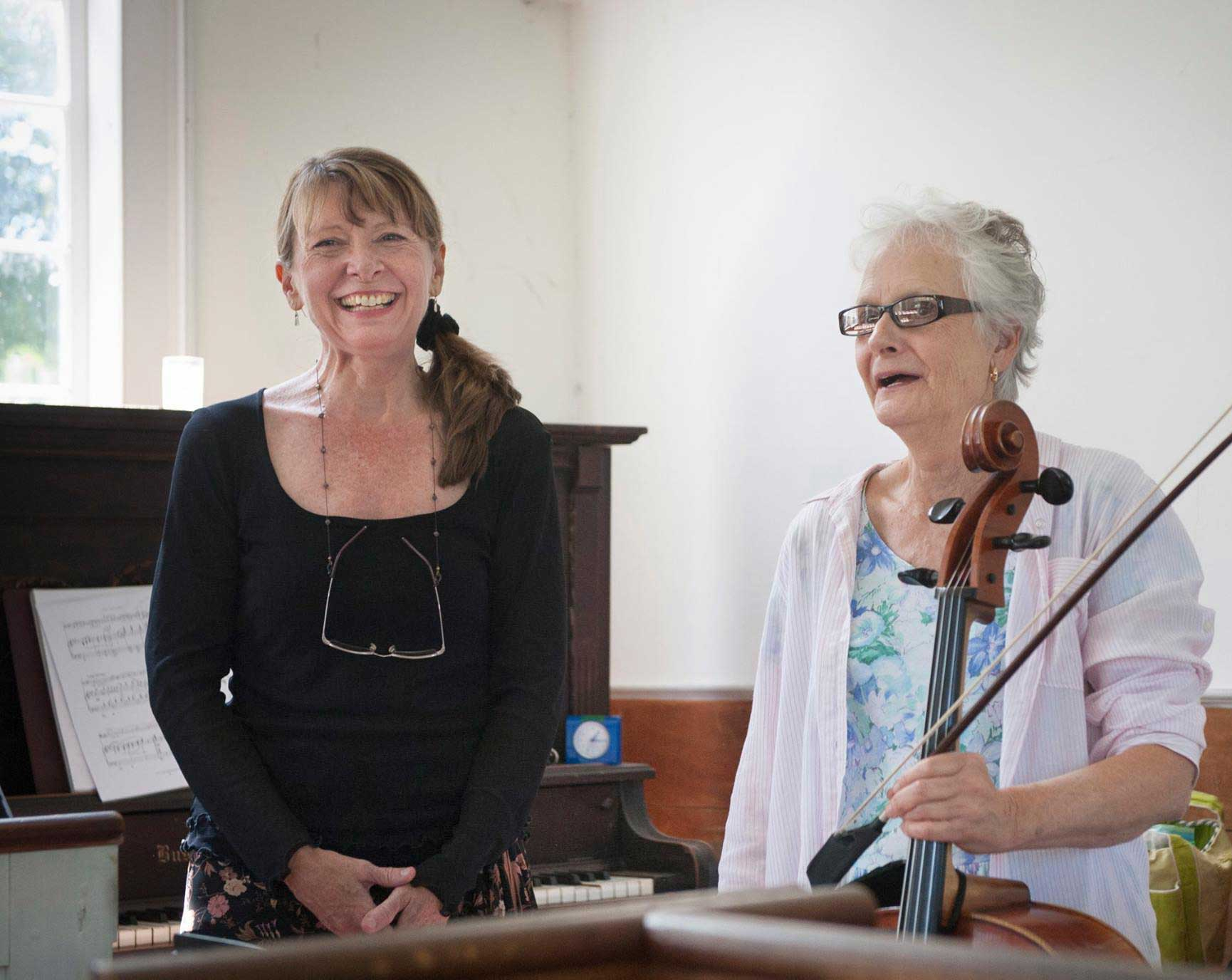 Kathi Tarrant performs with the Twin State Music Collective